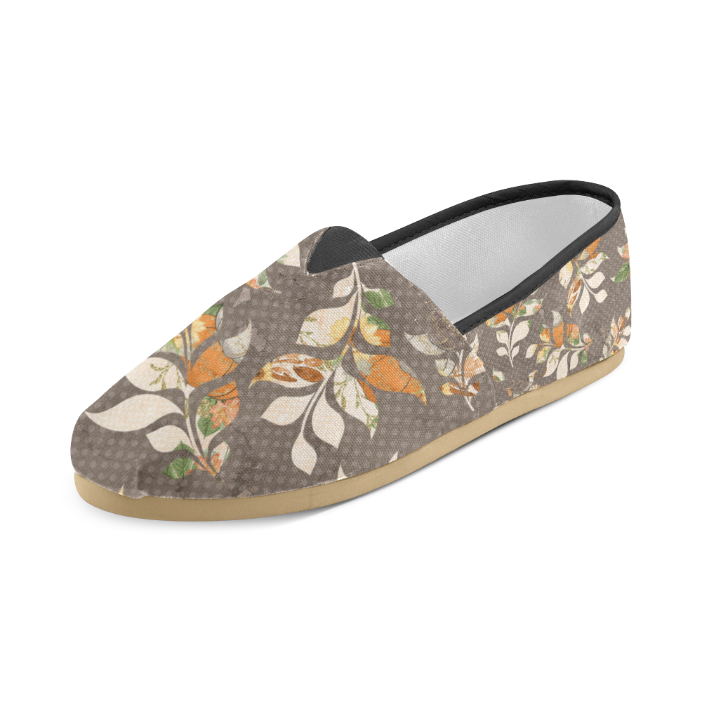 Fall Leaves Shoes, Leaves Unisex Casual Shoes (Model 004)