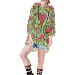 Where Love Grows. Inspired by the Magic Island of Gotland. Step Hem Tunic Hoodie for Women (Model H25)