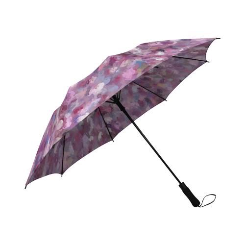 Autumn Leaves and Berries on a rainy day 9889 Semi-Automatic Foldable Umbrella (Model U05)