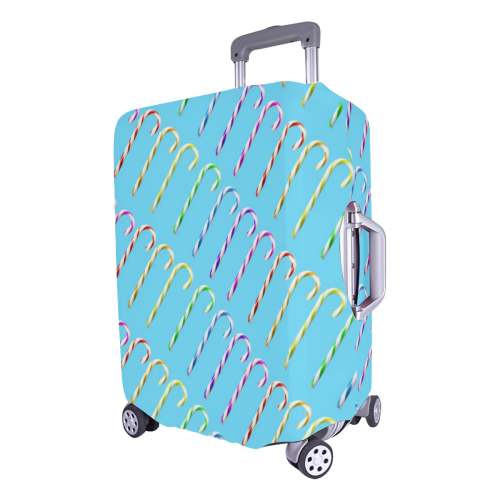 "candy canes Luggage Cover/Large 26""-28"""