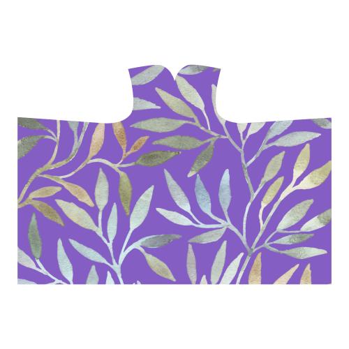 leaves purple Hooded Blanket 80''x56''