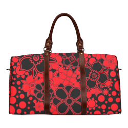 FLORAL DESIGN 46 Waterproof Travel Bag/Large (Model 1639)