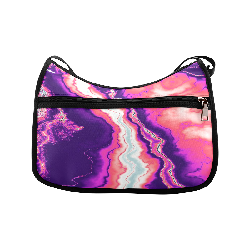 Pink and Purple Geode Crossbody Bags (Model 1616)