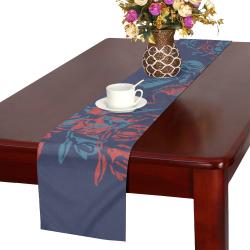 Blue Depths & Mosaic Blue Table Runner 16x72 inch