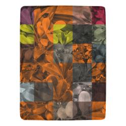 "Foliage Patchwork #9 - Jera Nour Ultra-Soft Micro Fleece Blanket 60""x80"""
