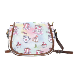Coffee and sweeets Saddle Bag/Small (Model 1649) Full Customization