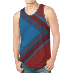 Classic Blue Layers on Burgundy Red New All Over Print Tank Top for Men (Model T46)