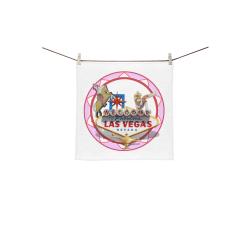 "LasVegasIcons Poker Chip - Pink Square Towel 13""x13"""