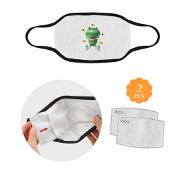 Cute Critters With Heart Frog and Flies Mouth Mask (2 Filters Included)