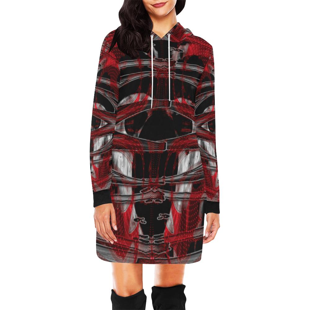 5000xart 16 All Over Print Hoodie Mini Dress (Model H27)