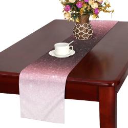 rose gold Glitter gradient Table Runner 16x72 inch