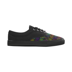 Ripped SpaceTime Stripes Collection Aries Women's Canvas Shoes (Model 029)