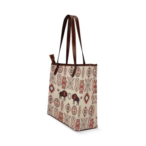 American Native Buffalo Shoulder Tote Bag (Model 1646)