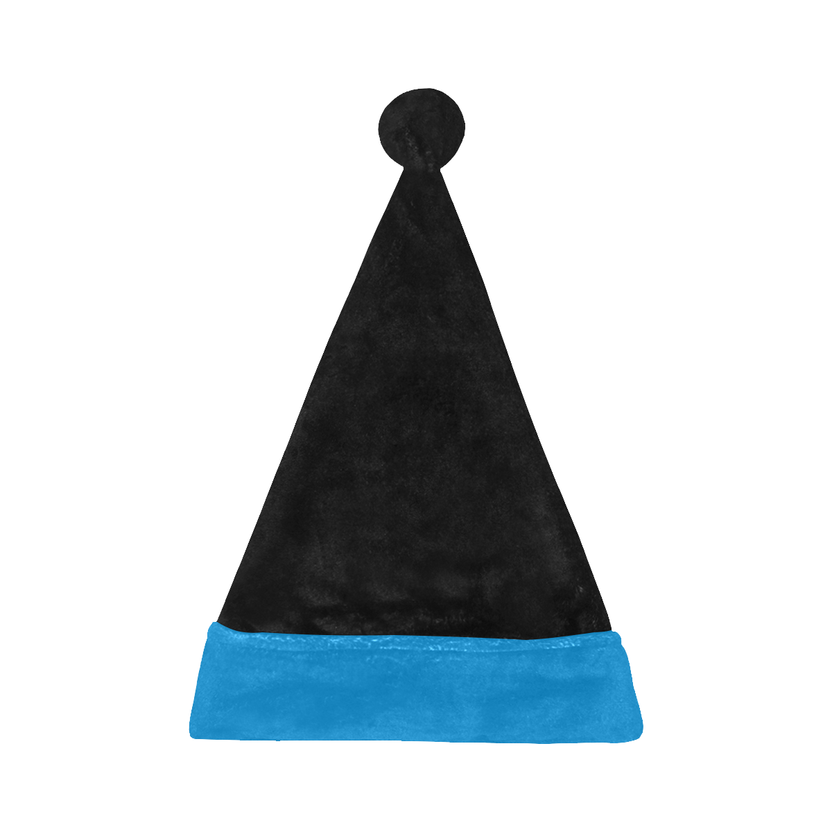Team Colors Black and Panther Blue Santa Hat