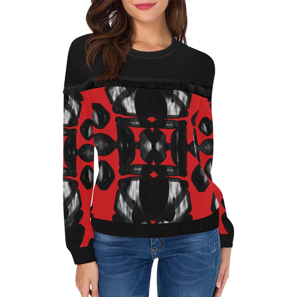 5000xart_5198x6259 6 Women's Fringe Detail Sweatshirt (Model H28)