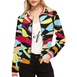 when confused vector black All Over Print Bomber Jacket for Women (Model H21)