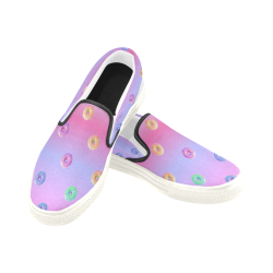 Mini Donuts Slip-On Shoes Men's Slip-on Canvas Shoes (Model 019)