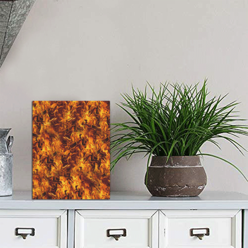 """Flaming Fire Pattern Photo Panel for Tabletop Display 6""""x8"""""""