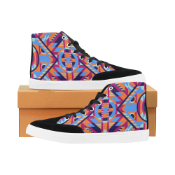 Modern Geometric Pattern Herdsman High Top Shoes for Men (Model 038)