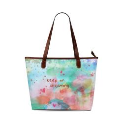 KEEP ON DREAMING - rainbow Shoulder Tote Bag (Model 1646)