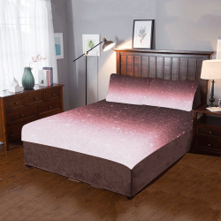 rose gold Glitter gradient 3-Piece Bedding Set