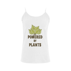 Powered by Plants (vegan) Women's Spaghetti Top (USA Size) (Model T34)