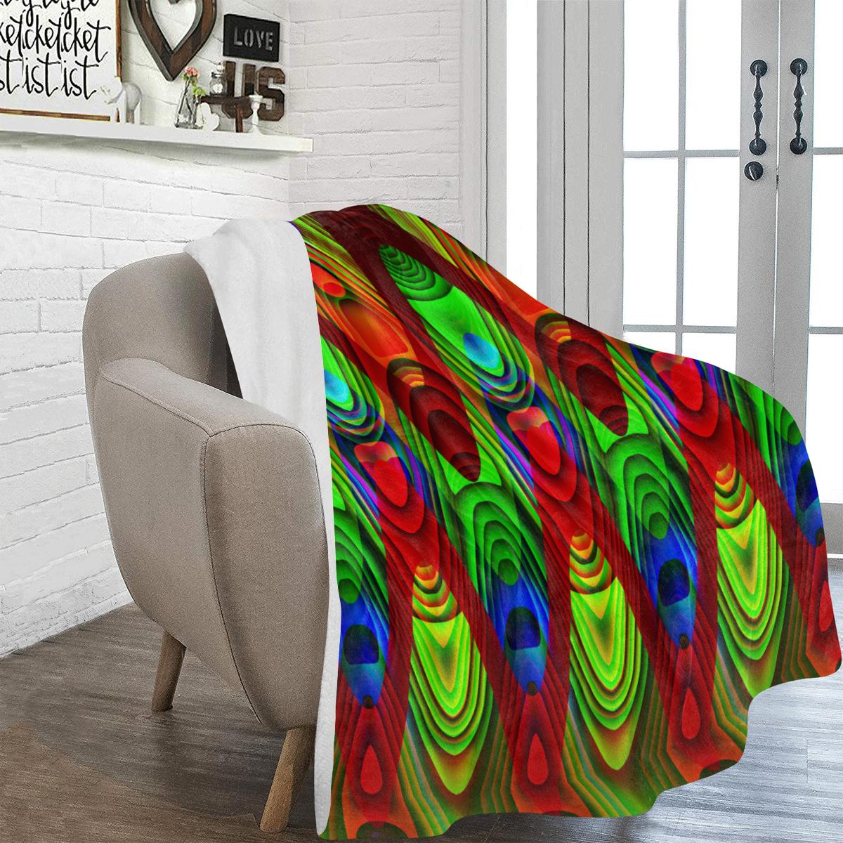 "2D Wave #1B - Jera Nour Ultra-Soft Micro Fleece Blanket 60""x80"""