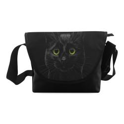Black Cat Crossbody Bag (Model 1631)