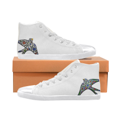 Swallow Women's High Top Canvas Shoes (Model 002)