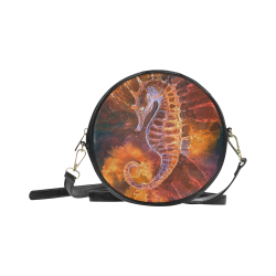 Darkhorse Demon Sea Horse Gothic Darkstar Round Sling Bag (Model 1647)