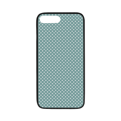 "Silver blue polka dots Rubber Case for iPhone 7 plus (5.5"")"
