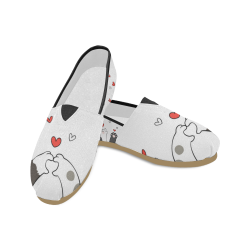 Cat Paws Shoes, Little Cute Cat Unisex Casual Shoes (Model 004)