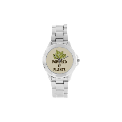Powered by Plants (vegan) Unisex Stainless Steel Watch(Model 103)
