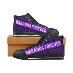 Wakanda Forever Large Mens' Shoe Men's Classic High Top Canvas Shoes /Large Size (Model 017)