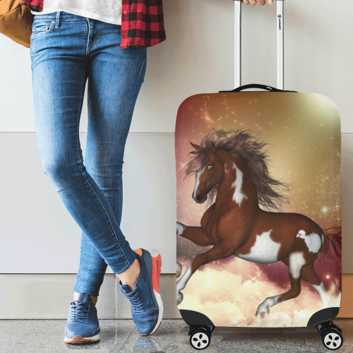 "Wonderful wild horse in the sky Luggage Cover/Medium 22""-25"""