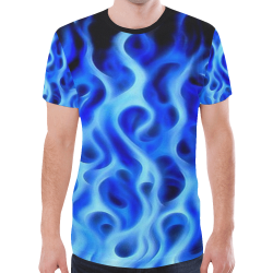 blue fire New All Over Print T-shirt for Men (Model T45)