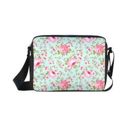 Peony Pattern Classic Cross-body Nylon Bags (Model 1632)