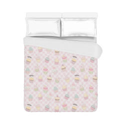 "Cupcakes Duvet Cover 86""x70"" ( All-over-print)"