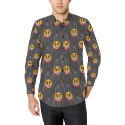 Laughing nightmare by Nico Bielow Men's All Over Print Casual Dress Shirt (Model T61)