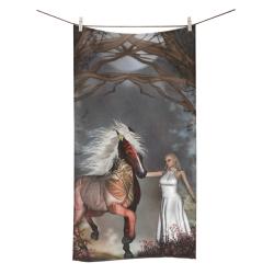 "Fantasy horse with fairy Bath Towel 30""x56"""
