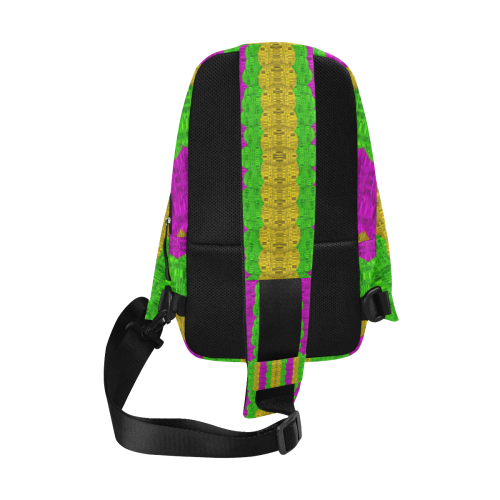 Hipster or hippie in  pattern style Chest Bag (Model 1678)