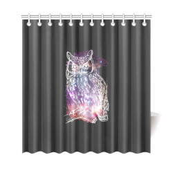 "Cosmic Owl - Galaxy - Hipster Shower Curtain 69""x72"""