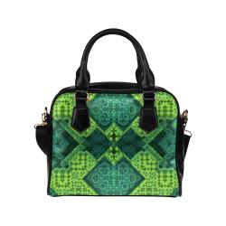 3D Mosaic Again Shoulder Handbag (Model 1634)