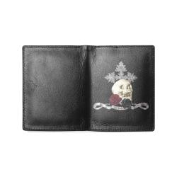 In Goth We Trust 2 Men's Leather Wallet (Model 1612)