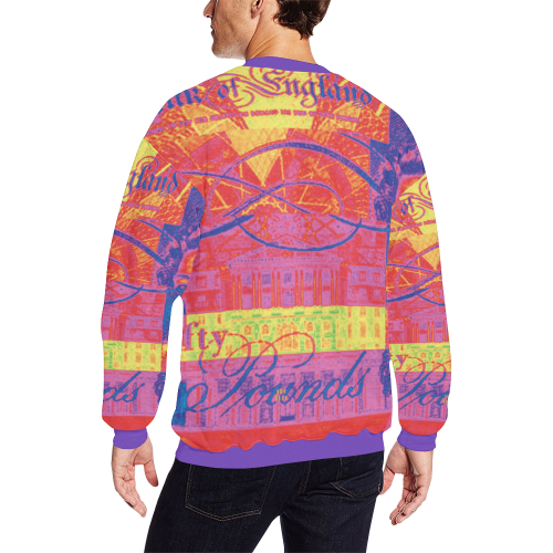 Bullseye Men's Oversized Fleece Crew Sweatshirt (Model H18)