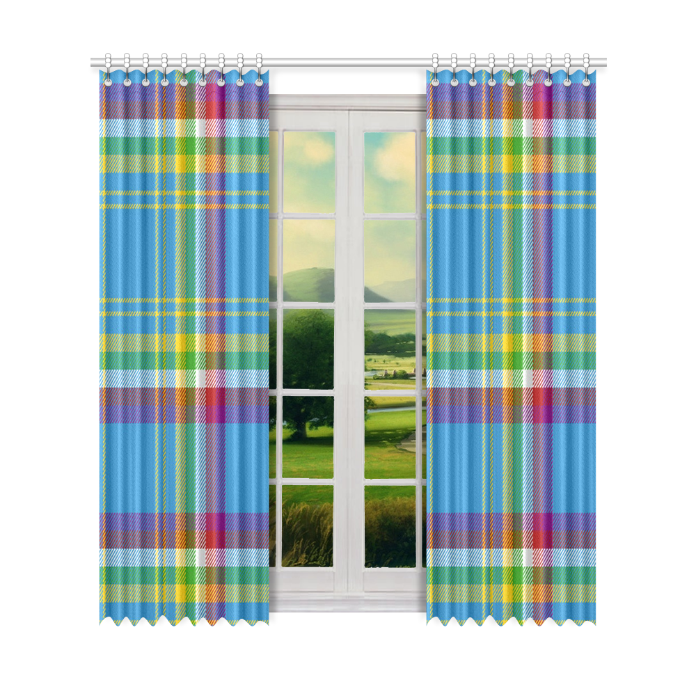 "Yukon Tartan Window Curtain 52"" x96""(One Piece)"