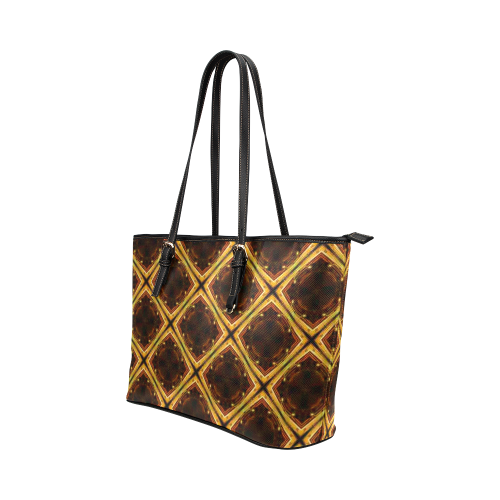 zatarvi Leather Tote Bag/Large (Model 1651)
