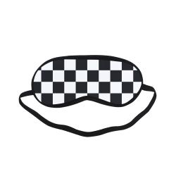 Black White Checkers Sleeping Mask
