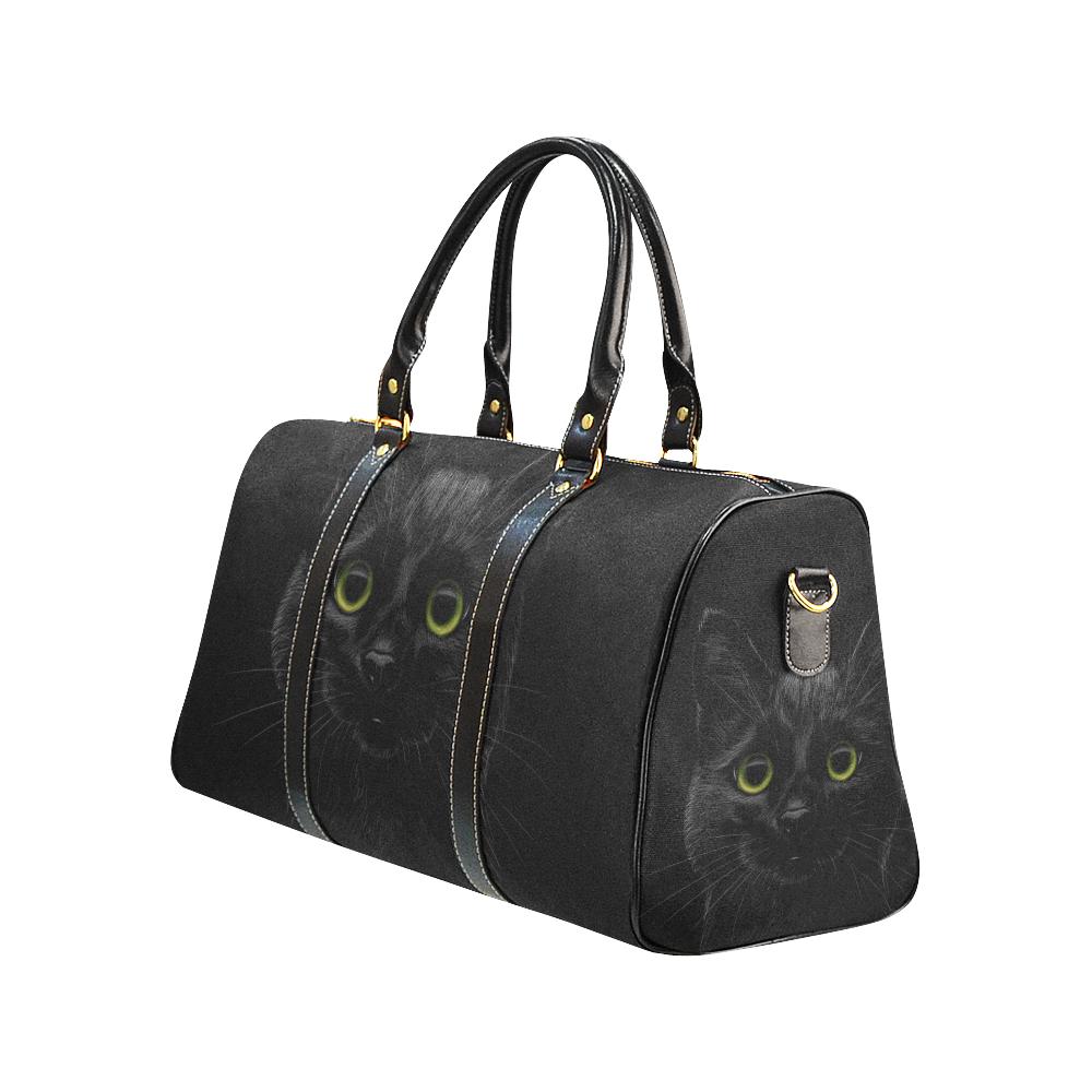 Black Cat New Waterproof Travel Bag/Small (Model 1639)