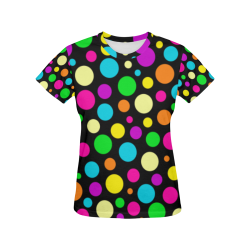 Circulos Multicolores All Over Print T-Shirt for Women (USA Size) (Model T40)